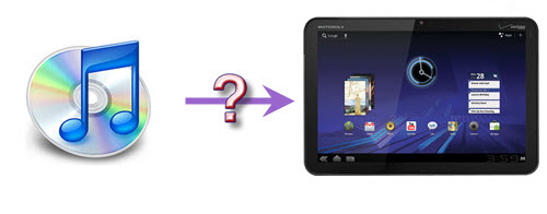 play iTunes music with Motorola Xoom