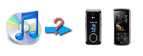 Convert iTunes music for playback on LG mobile phone